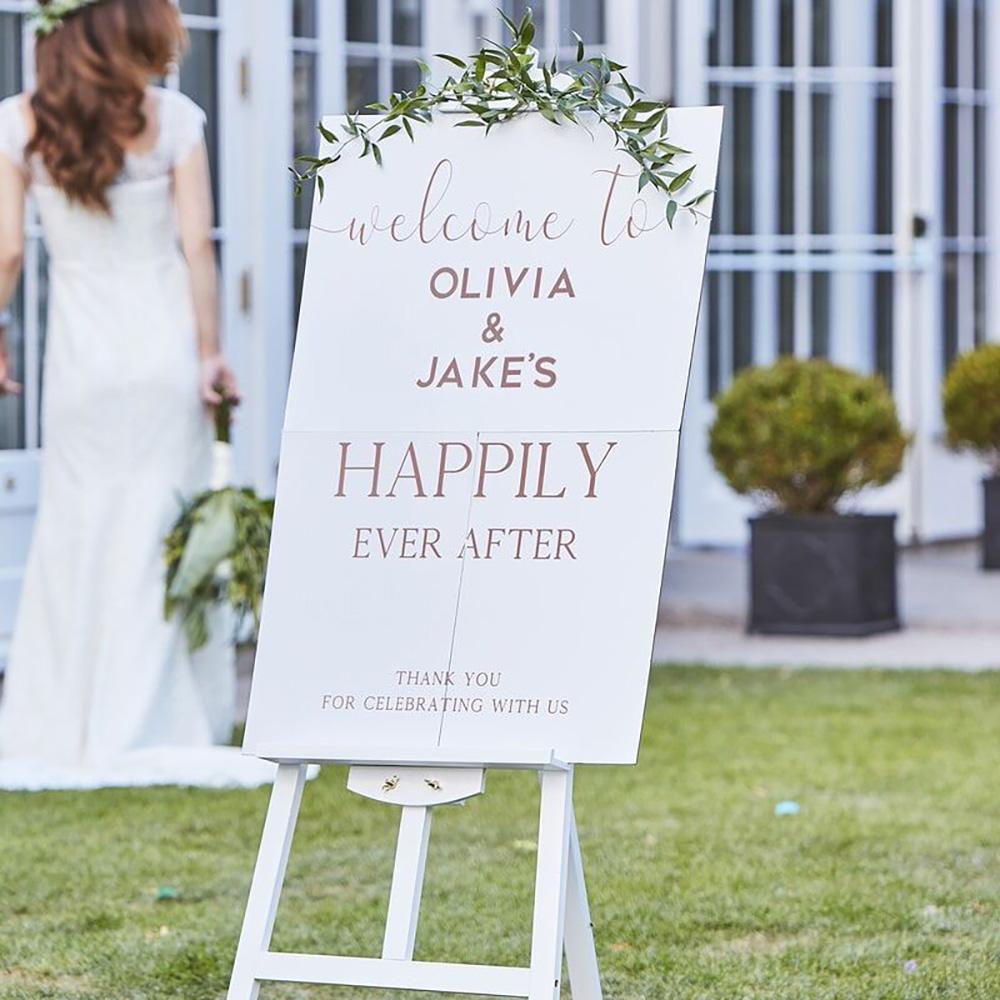 Bröllopsskylt Welcome Stor