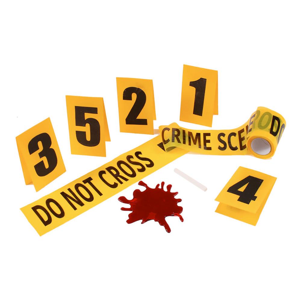 Brottsplats Dekorationskit