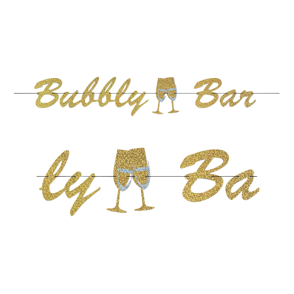 Bubbly Bar Glitter Girlang