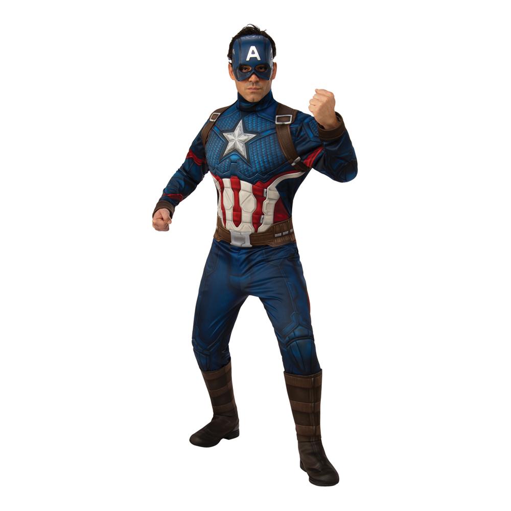 Captain America Deluxe Maskeraddräkt - Standard