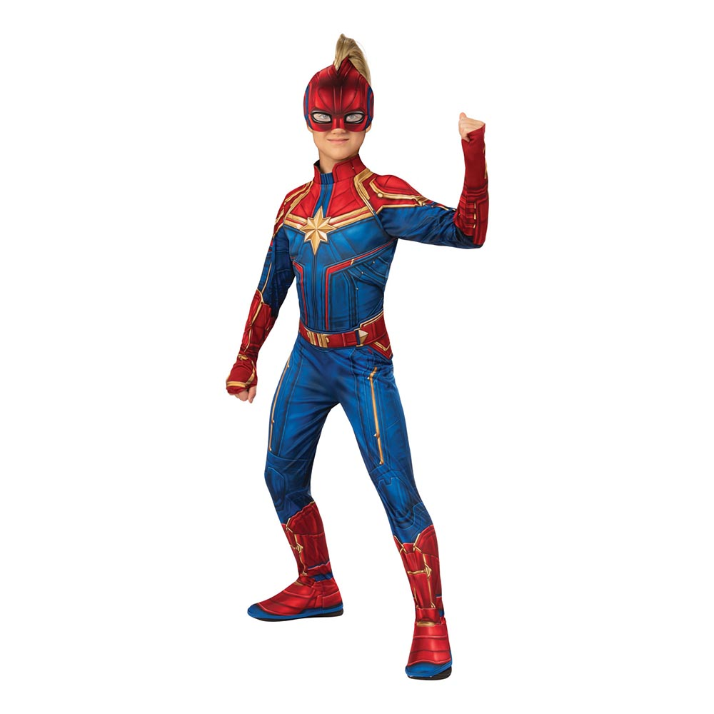 Captain Marvel Hero Barn Maskeraddräkt - Small