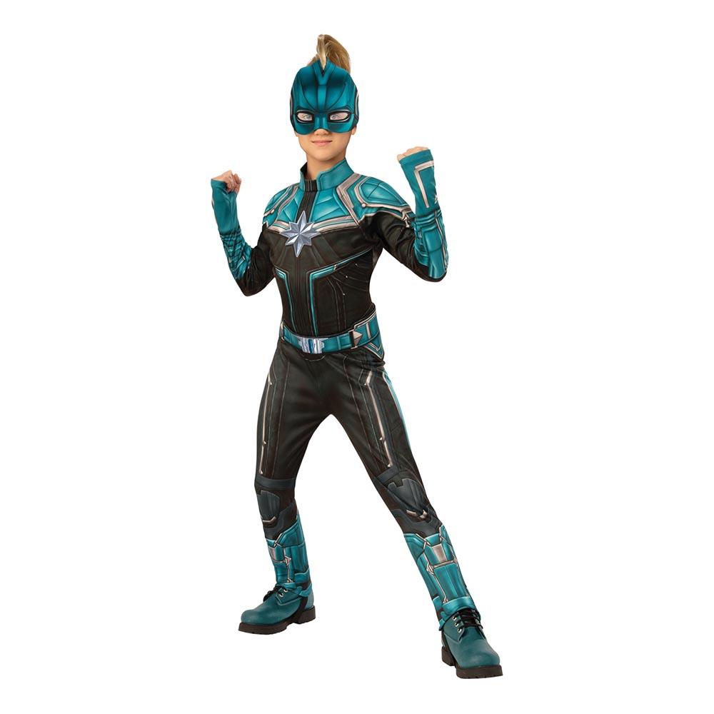 Captain Marvel Kree Barn Deluxe Maskeraddräkt - Small