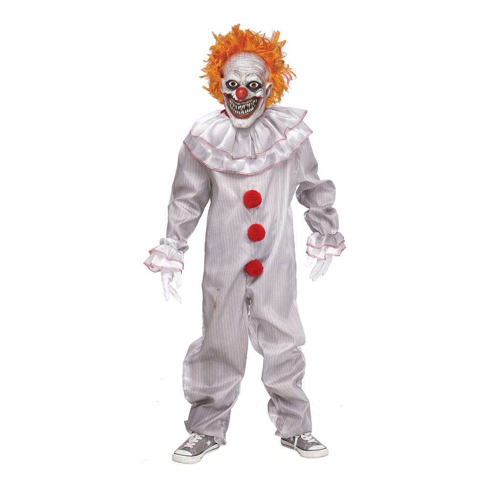 Carnevil Killer Clown Pojke Maskeraddräkt - Medium