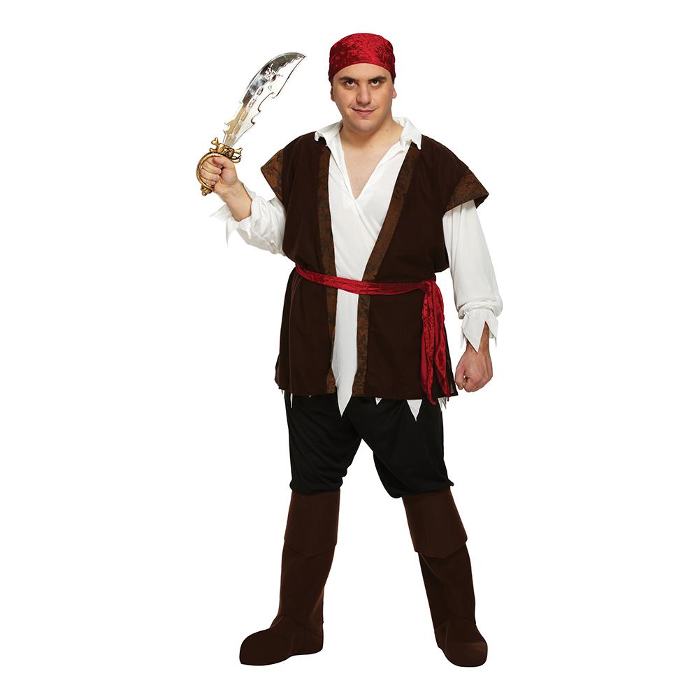Carribean Pirate Maskeraddräkt - XL