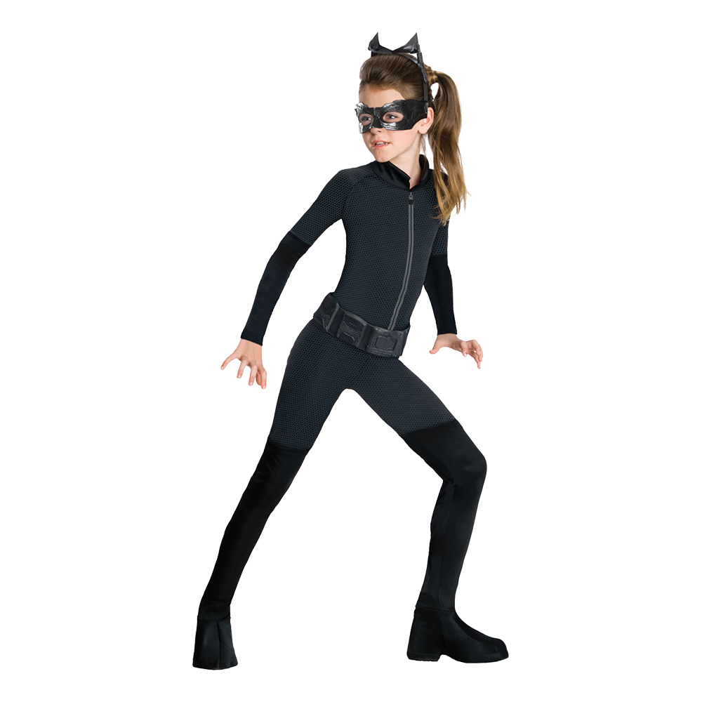 Utklädningsdräkter - Catwoman Barn Maskeraddräkt - Small