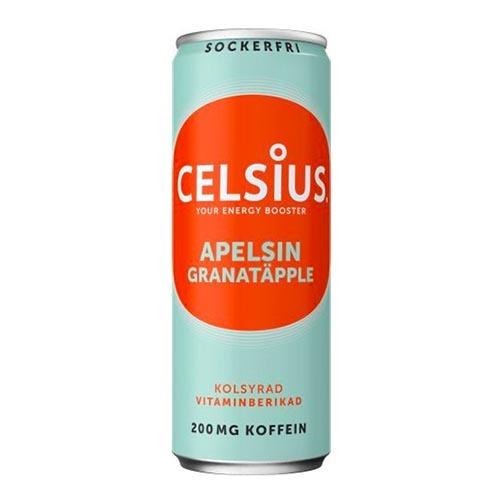 Celsius Apelsin/Granatäpple - 24-pack