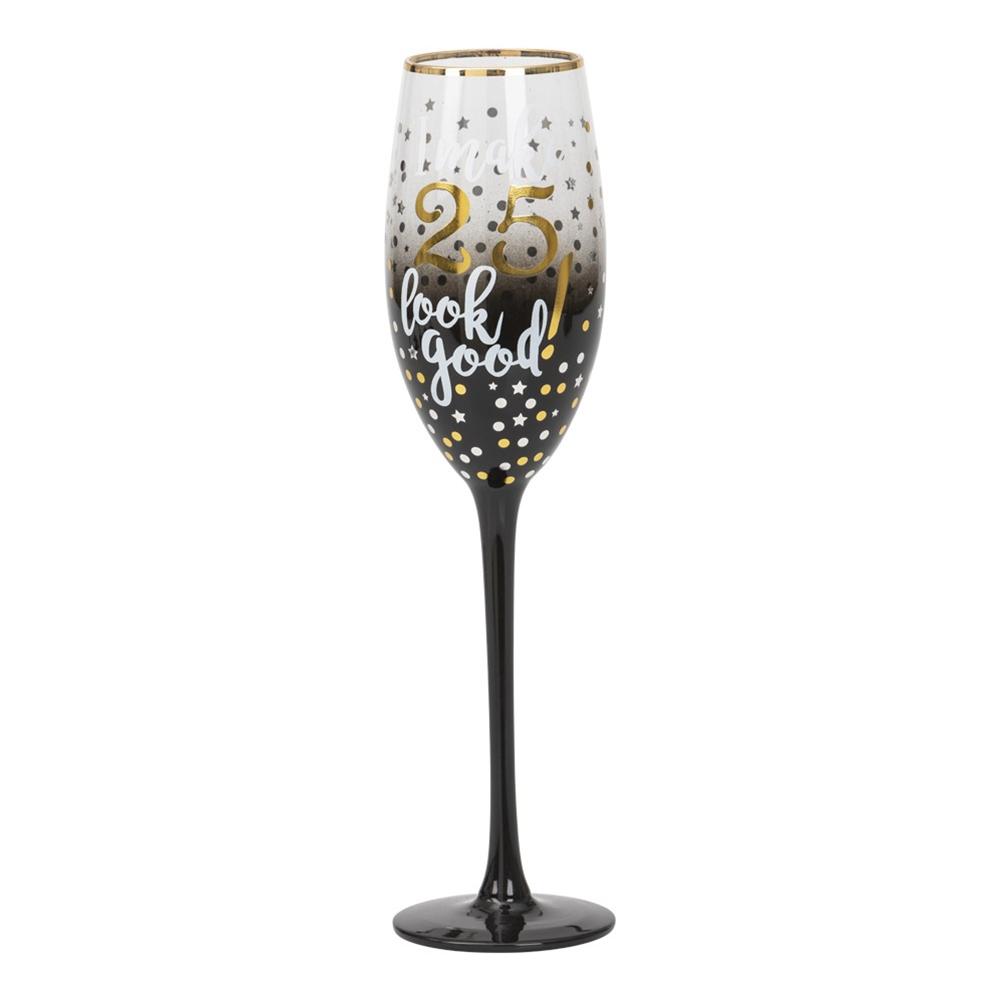 Champagneglas 25 Stars