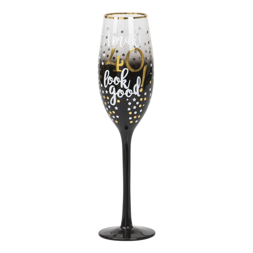 Champagneglas 40 Stars