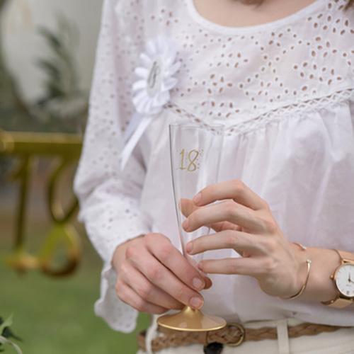 Champagneglas med Siffra - Siffra 20