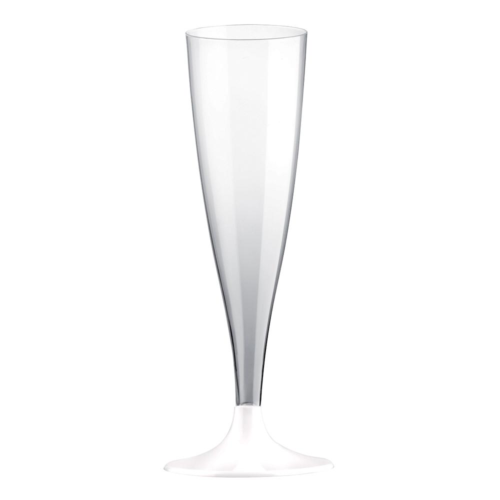 Champagneglas Transparent/Vit - 6-pack