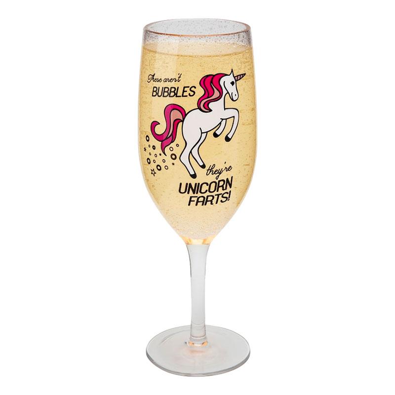 Enhörningsprodukter - Champagneglas Unicorn Farts