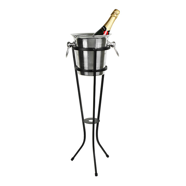 Champagnehink med Ställ i Aluminium
