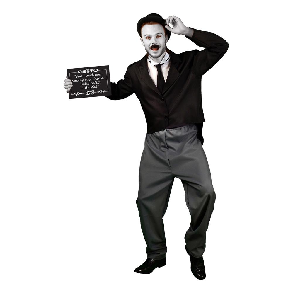 Charlie Chaplin Deluxe Maskeraddräkt - Medium