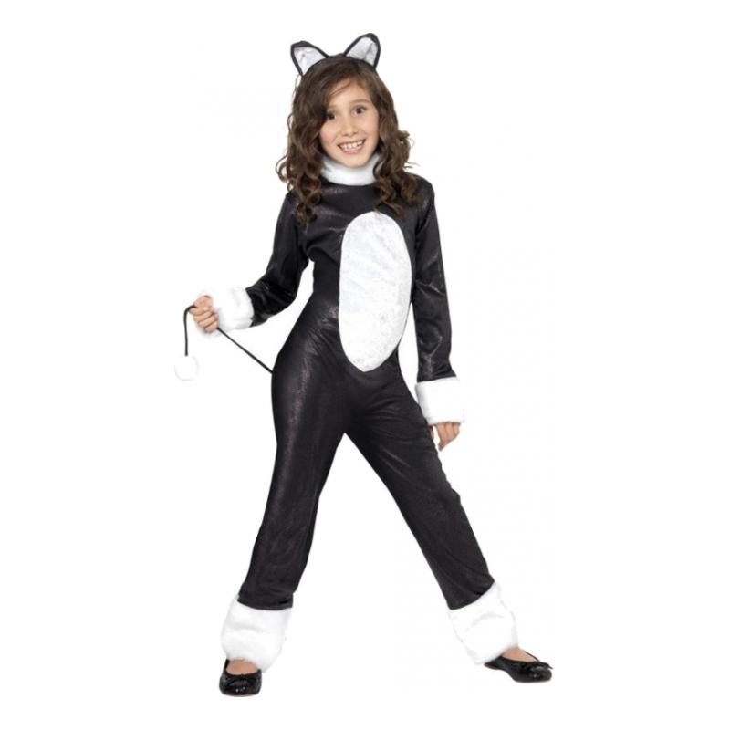 Utklädningsdräkter - Cool Katt Barn Maskeraddräkt - Small