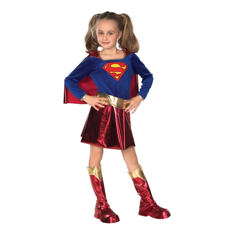 Supergirl Deluxe Barn Maskeraddräkt - Small