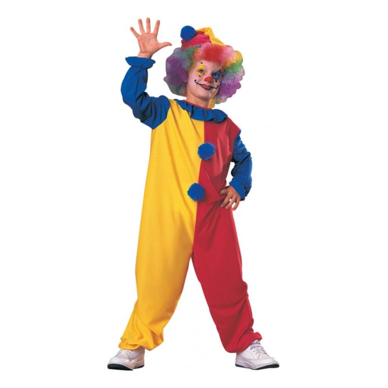 Clown Budget Barn Maskeraddräkt - Small