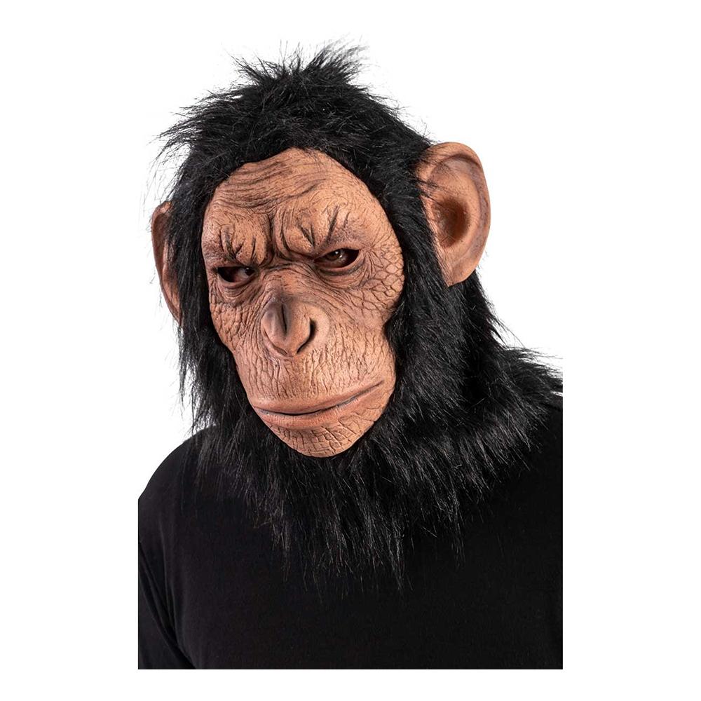 Chimpans Mask med Hår - One size