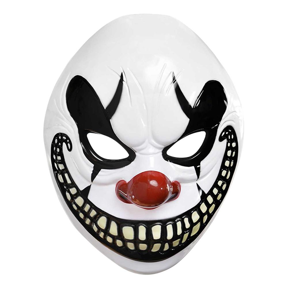 Clown Halloween Plastmask - One size