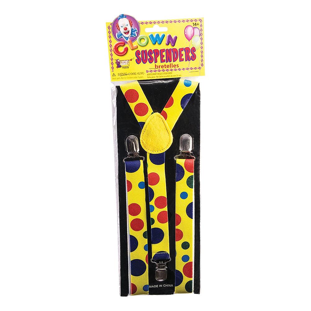 Clownhängslen med Prickar - One size