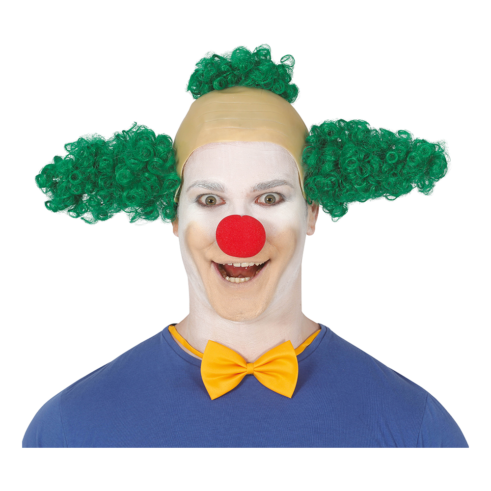 Clownperuk Grön - One size