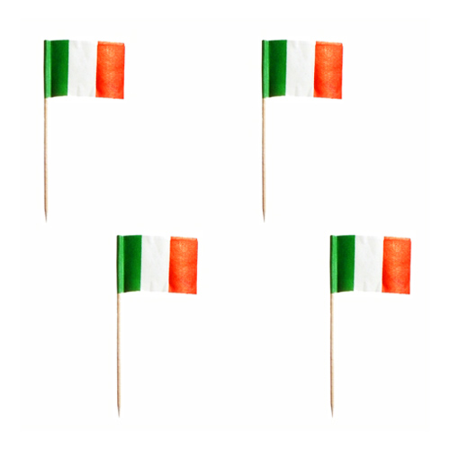 Cocktailflaggor Italien - 500-pack