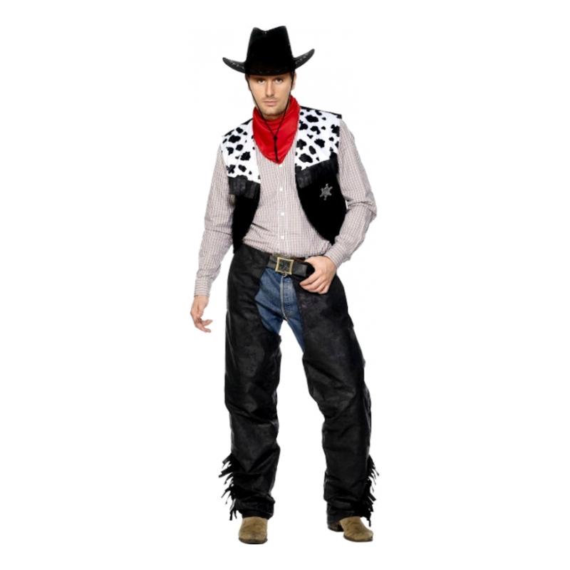 Lädercowboy Maskeraddräkt - Medium