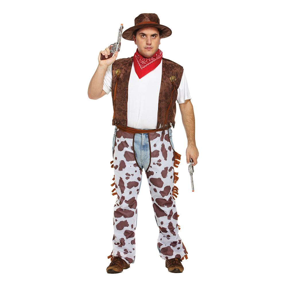 Cowboy Plus-size Maskeraddräkt - XL