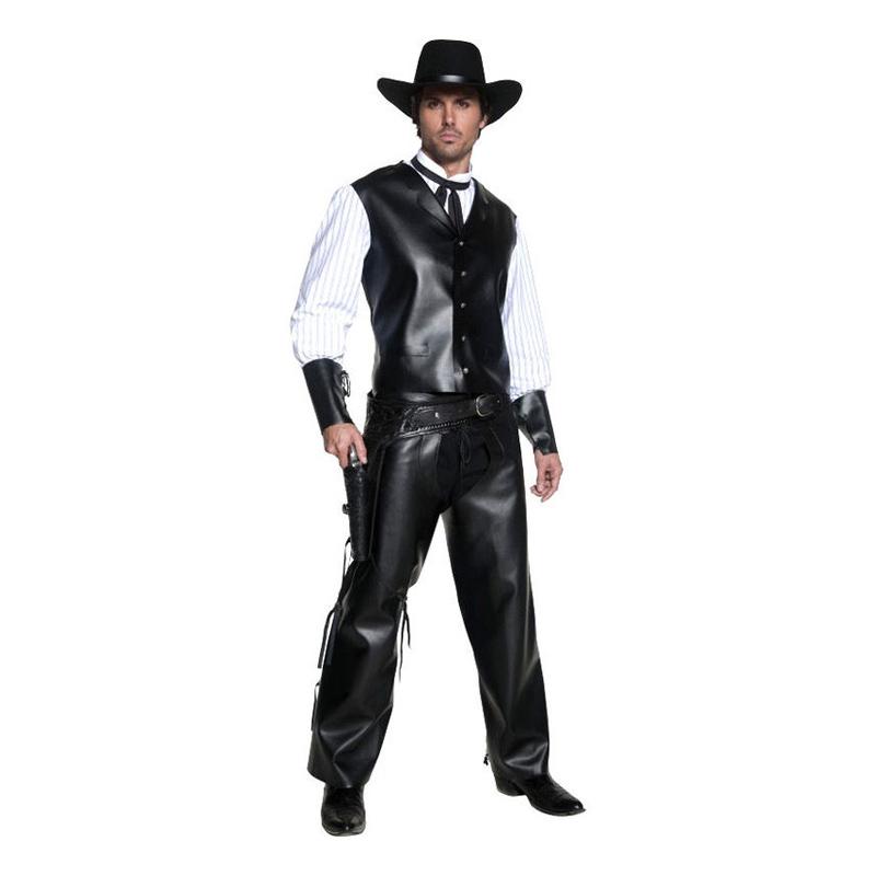 Cowboy Svart Maskeraddräkt - One size