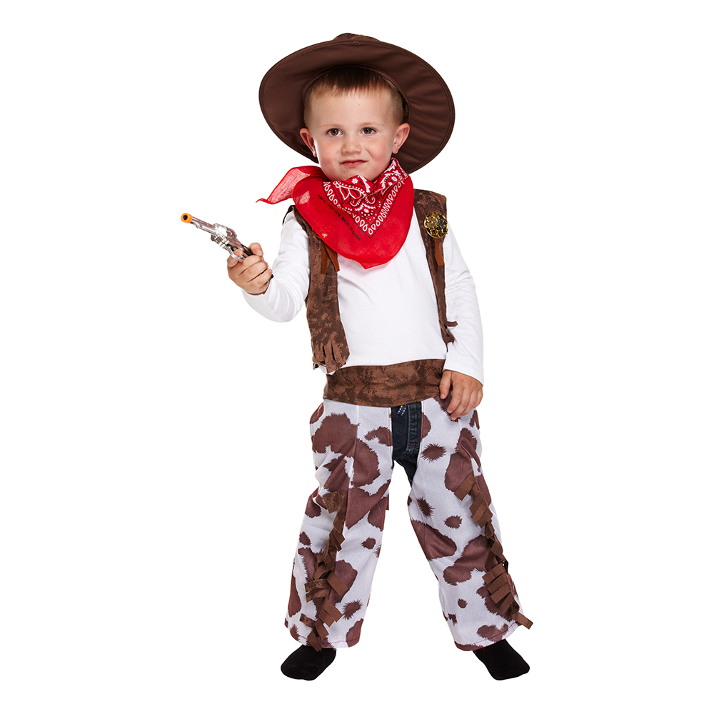 Cowboy Toddler Maskeraddräkt - One size