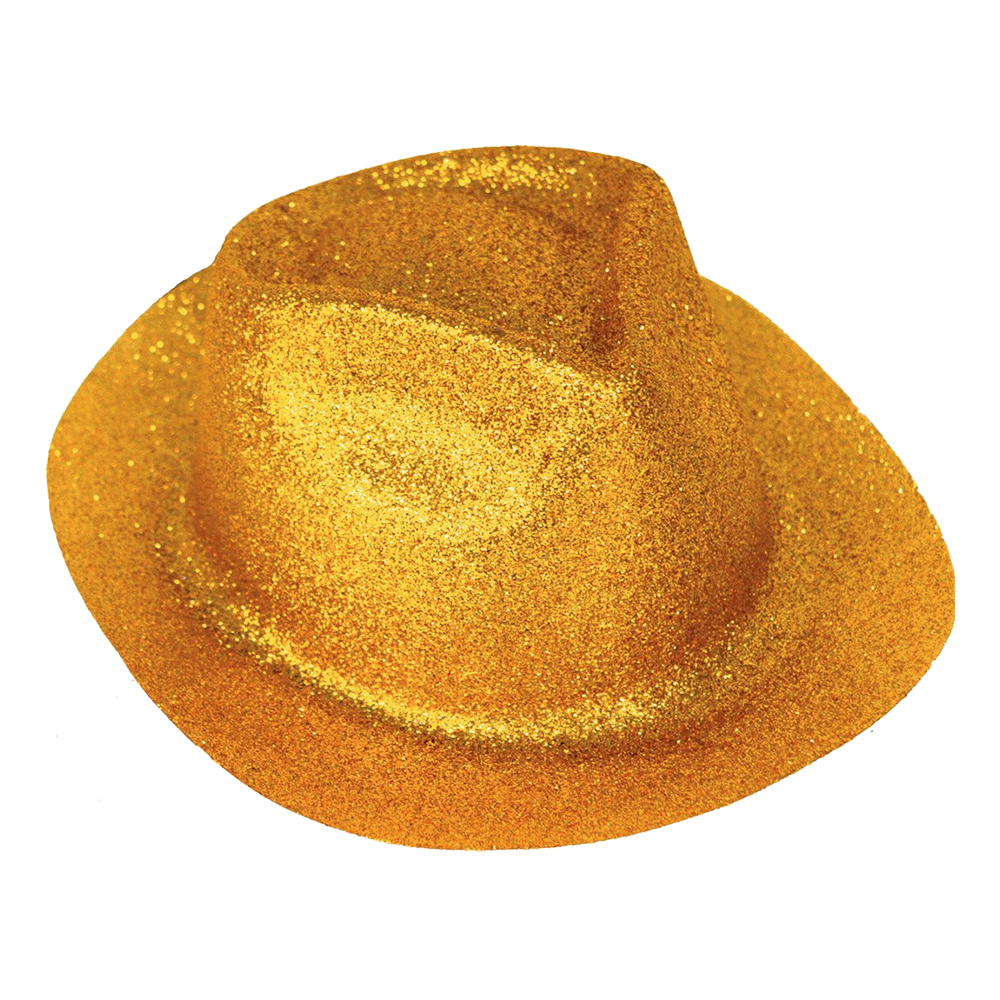 Cowboyhatt Glitter Guld - One size