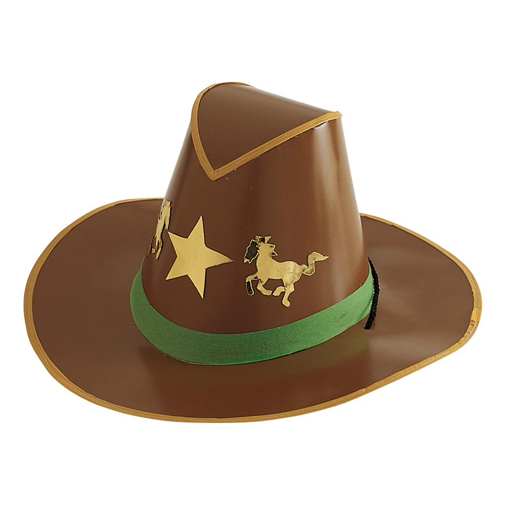 Cowboyhatt i Papp - One size