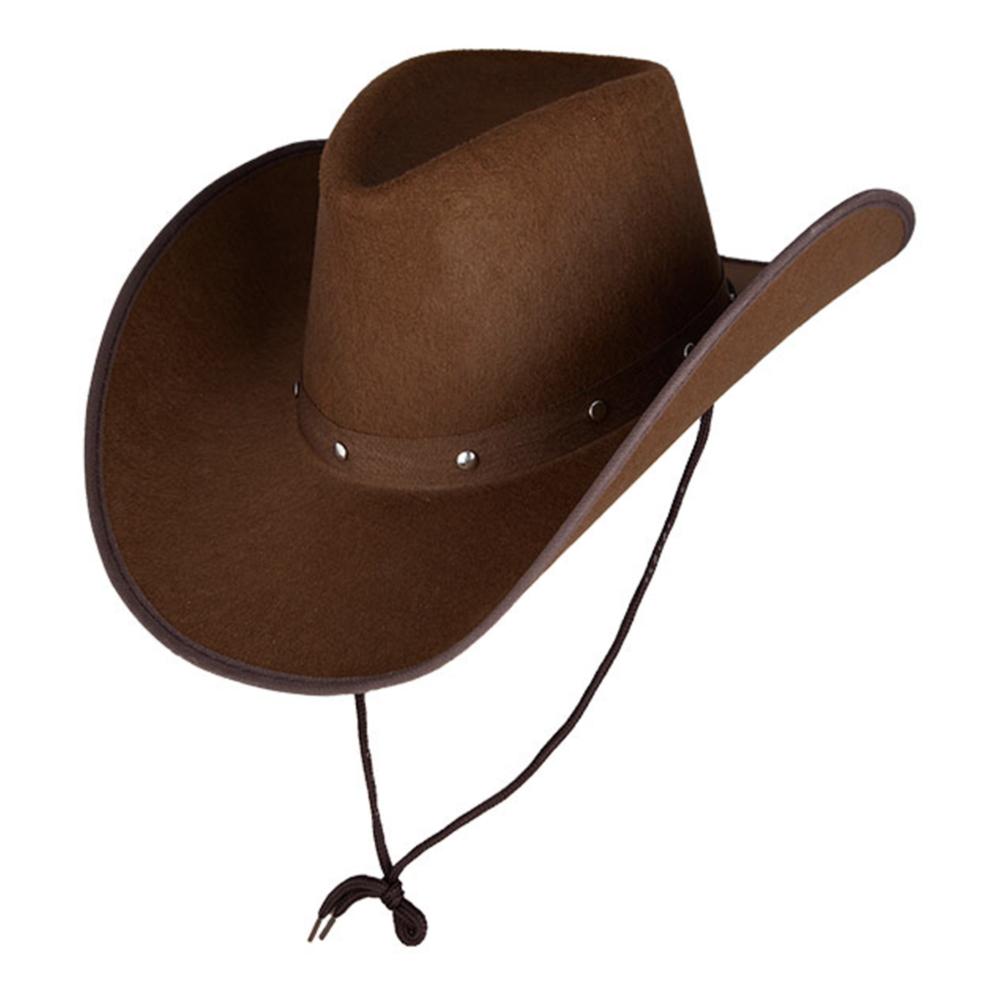 Cowboyhatt Mörkbrun - One size