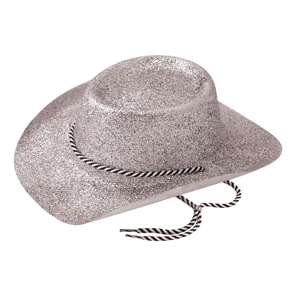 Cowboyhatt Silver Glitter - One size