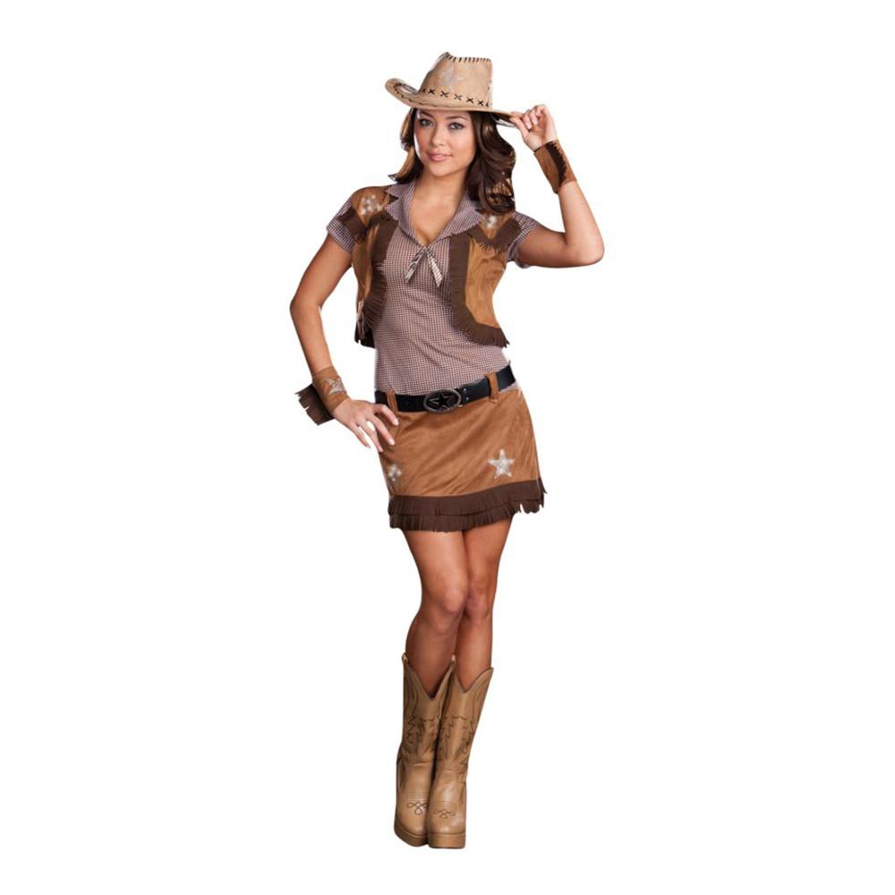 Cowgirl Dam Maskeraddräkt - One Size