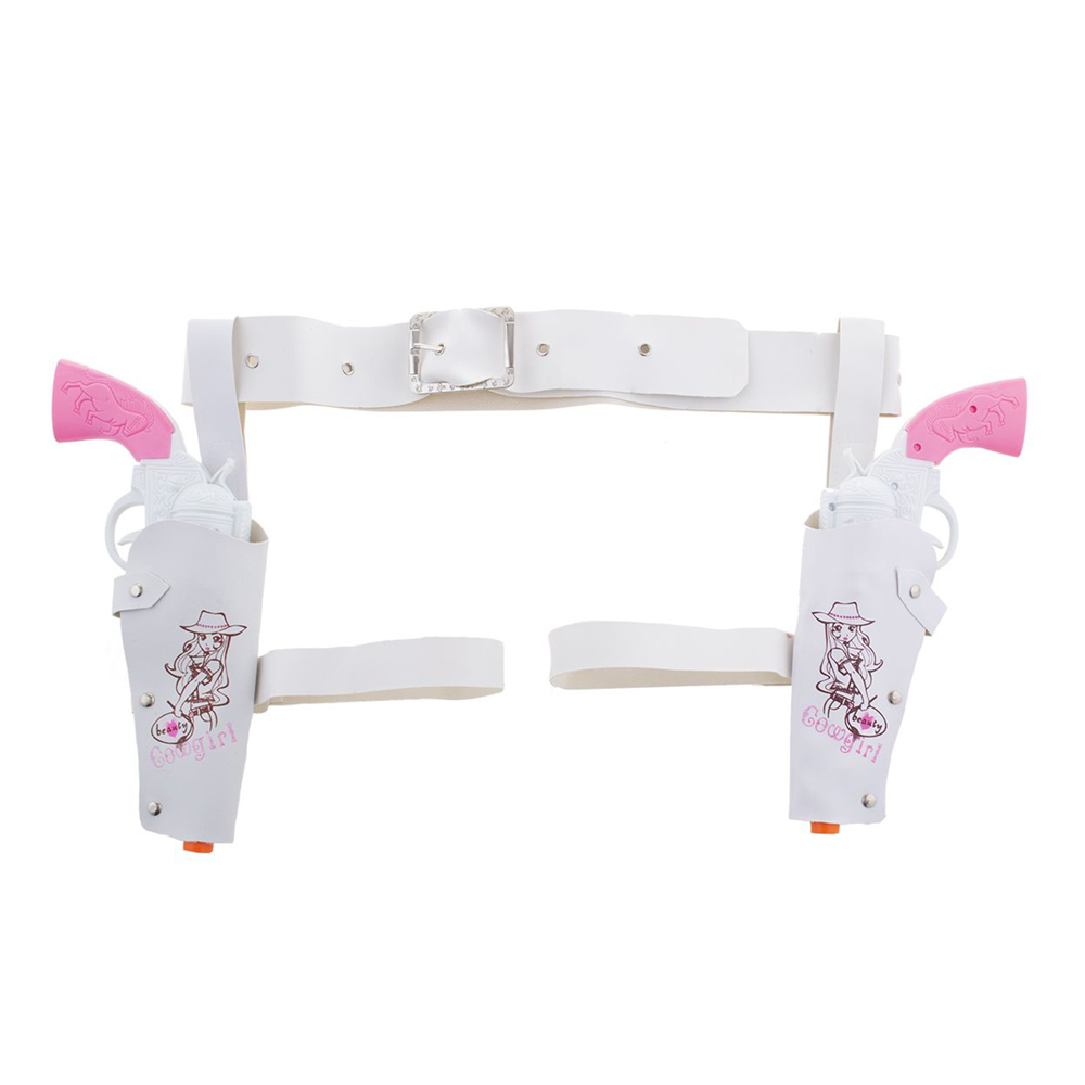 Cowgirl Hölster med Pistoler Vit/Rosa