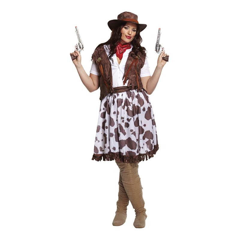 Cowgirl Plus-Size Maskeraddräkt - One size