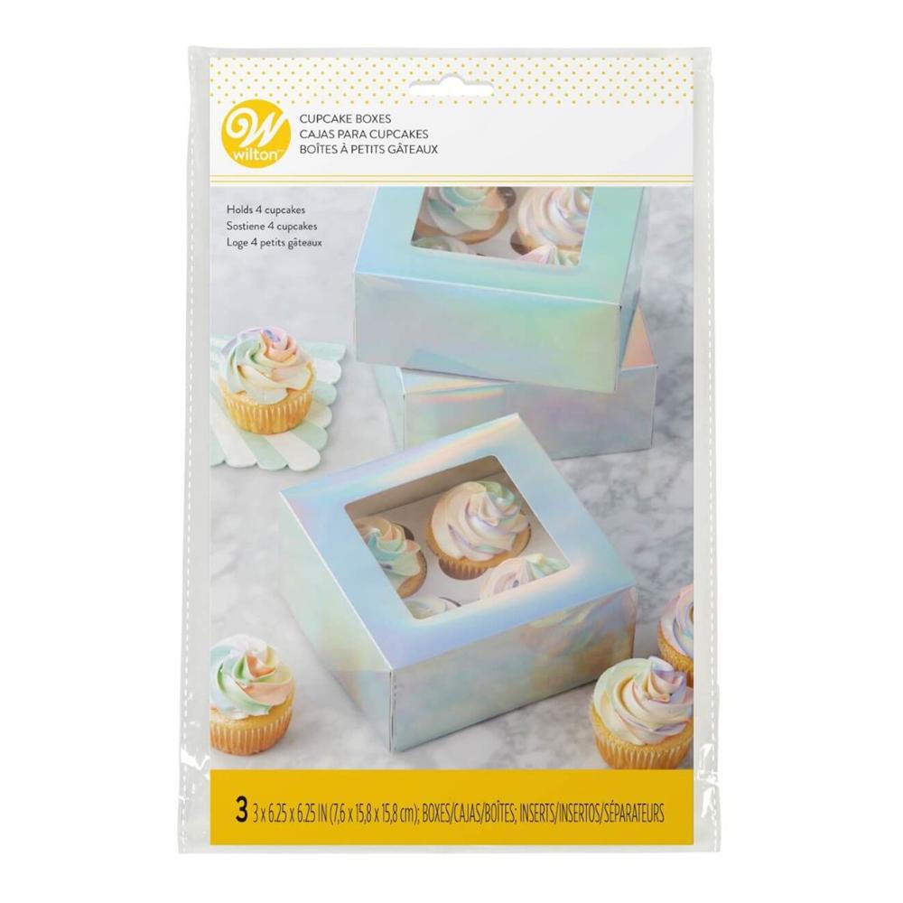 Cupcake Boxar Regnbågsskimrande - 3-pack