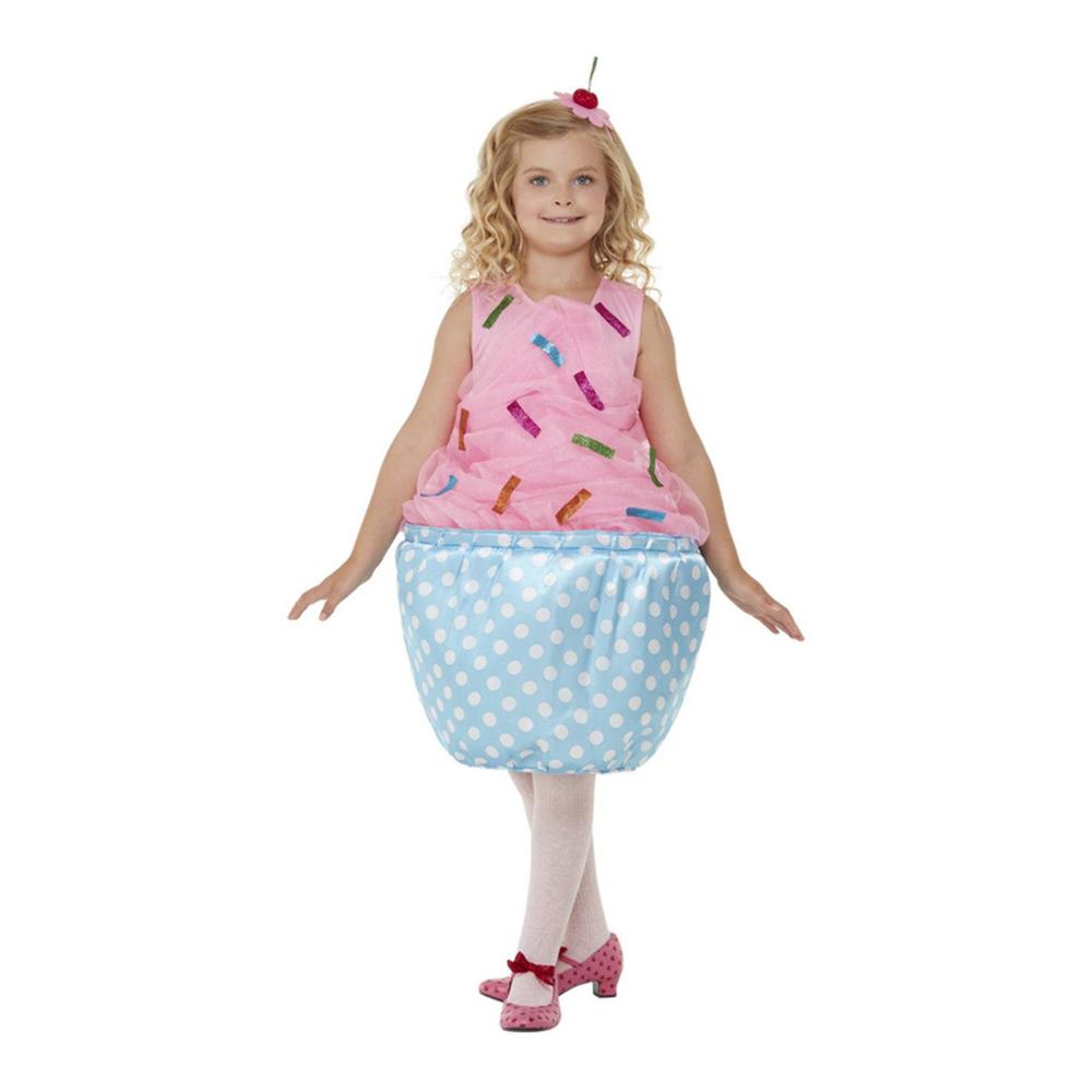 Cupcake Rosa Barn Maskeraddräkt - Small