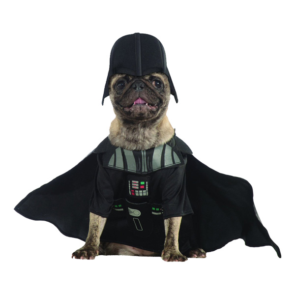 Darth Vader Hund Maskeraddräkt - Medium