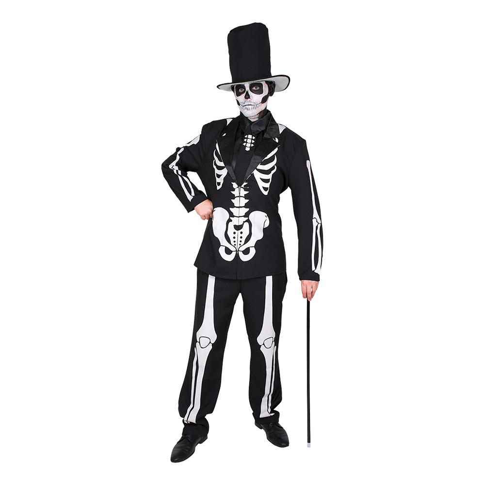 Day of the Dead Skelett Kostym Maskeraddräkt - Medium