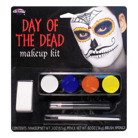 Day of the Dead Sminkset Mustasch