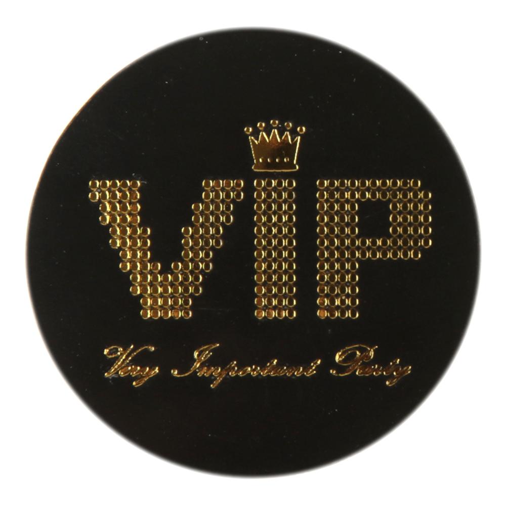 Konfetti VIP Svart/Guld - 50-pack