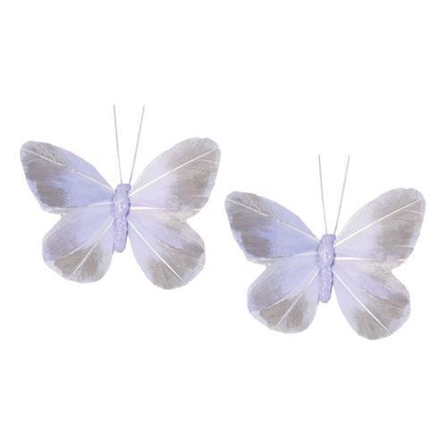 Dekorationsfjärilar Lila - 2-pack