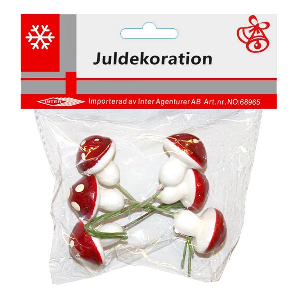 Svampar Juldekoration - 6-pack