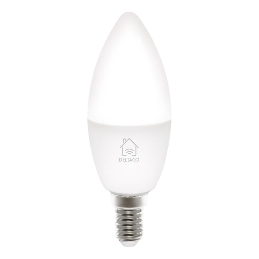 Deltaco Smart Lampa Vit - E14