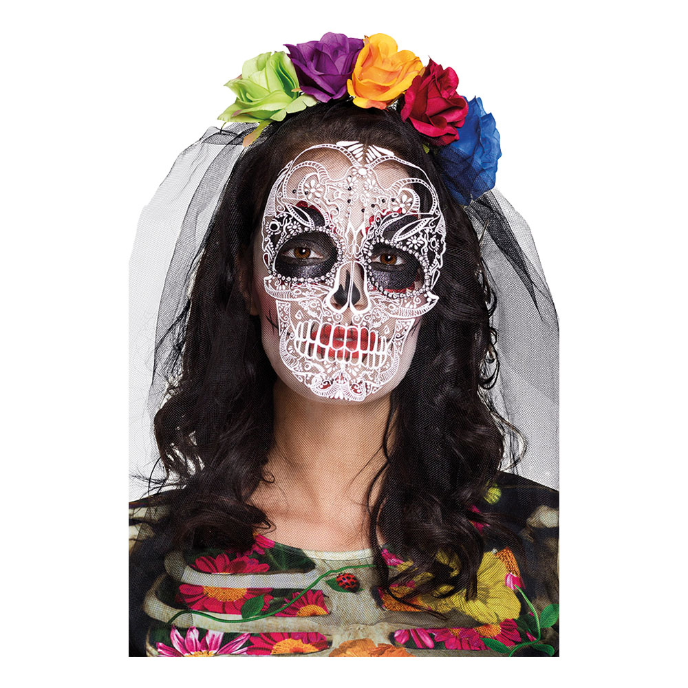 Diadem med Mask Day of the Dead - One size