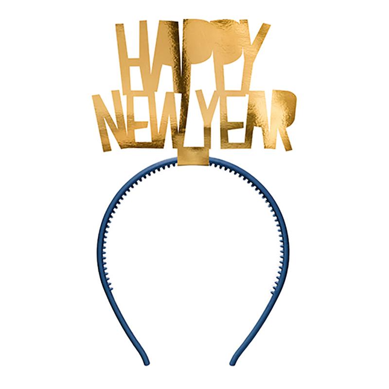 Diadem Happy New Year Guld - One size