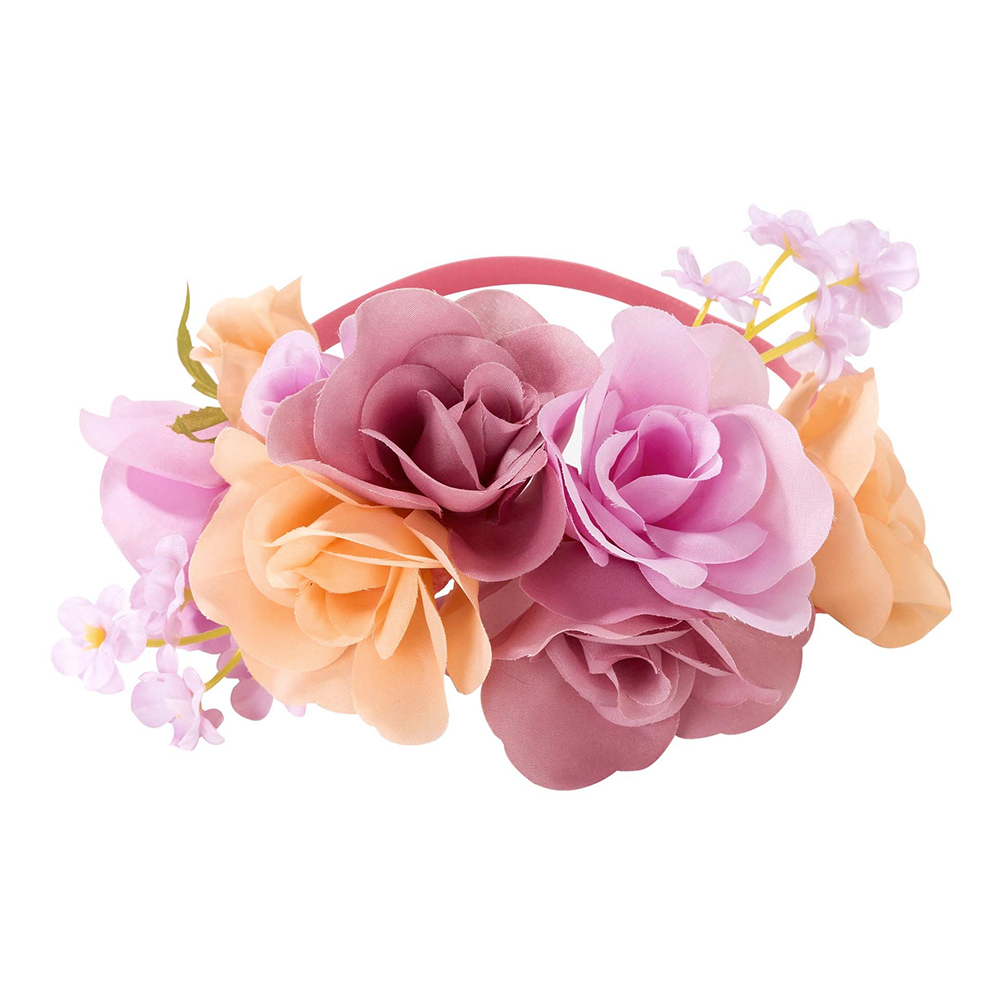 Diadem med Blommor Pastell - One size