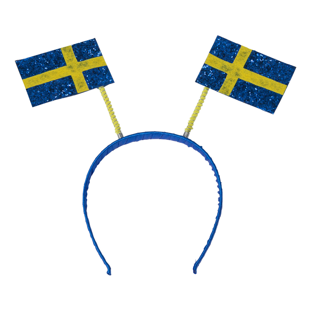 Diadem med Svenska Flaggor - One size