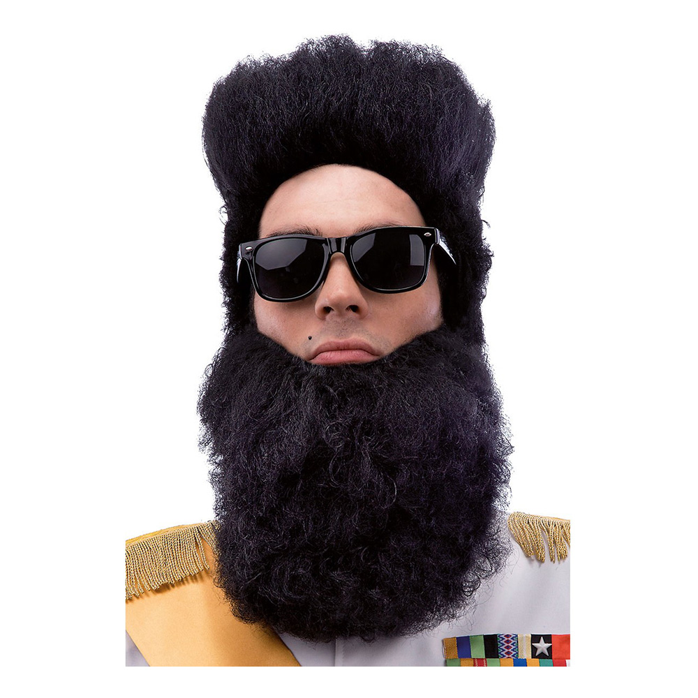 Diktator Perukset Svart - One size